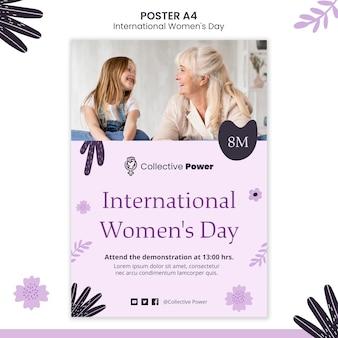 Cartel del día internacional de la mujer