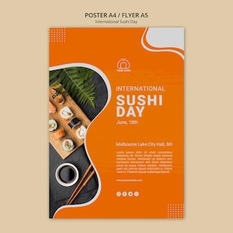 Cartel del día internacional del sushi