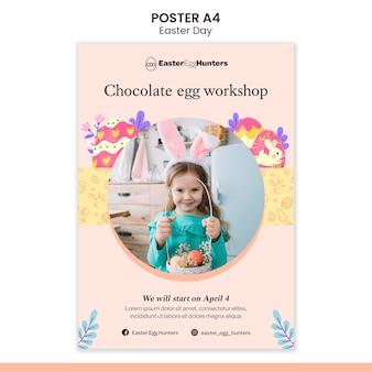 Cartel del día de pascua con foto