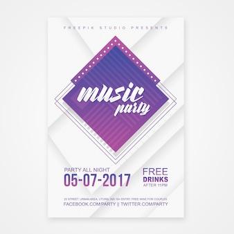 Cartel de fiesta de música