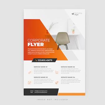 Cartel de flyer moderno abstracto, plantilla de folleto moderno