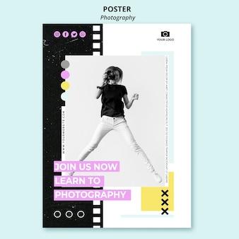 Cartel de fotografía creativa con foto