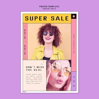 Cartel para gafas de sol super venta.