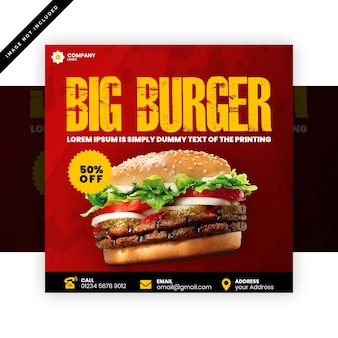 Cartel de hamburguesa