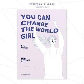 Cartel inspirador del día de la mujer