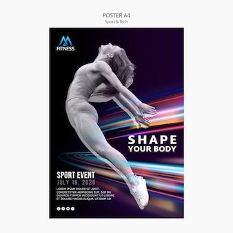 Cartel motivacional deportivo y tecnológico