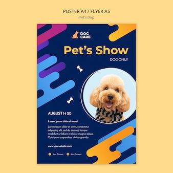 Cartel para negocio de tienda de mascotas.