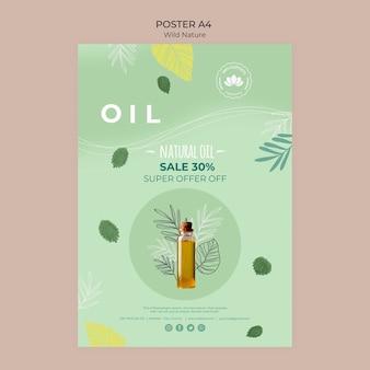 Cartel de oferta especial de aceite natural
