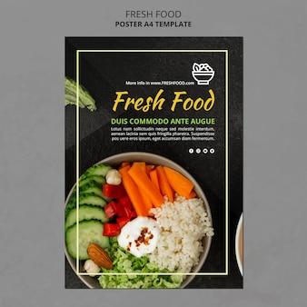 Cartel de plantilla de anuncio de alimentos frescos
