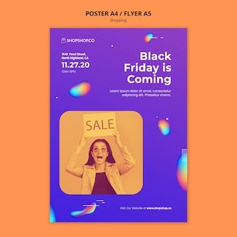 Cartel de plantilla de anuncio de compras