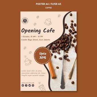 Cartel de plantilla de cafetería