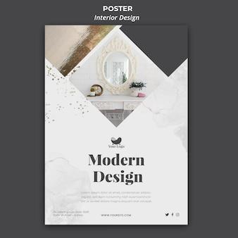 Cartel de plantilla de diseño de interiores