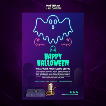 Cartel de plantilla de evento de halloween
