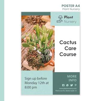 Cartel de plantilla de vivero de plantas