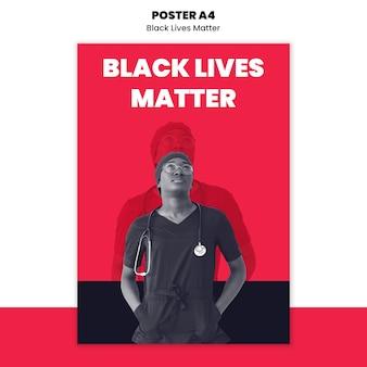 Cartel para el racismo y la violencia.