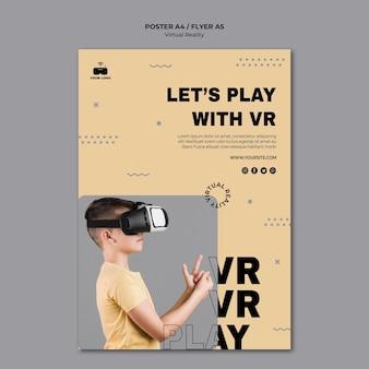 Cartel de realidad virtual