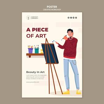 Cartel de taller creativo