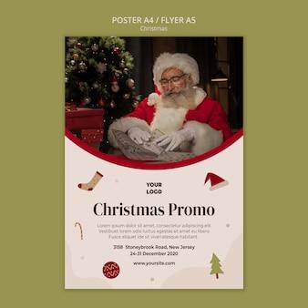 Cartel de venta de compras navideñas.