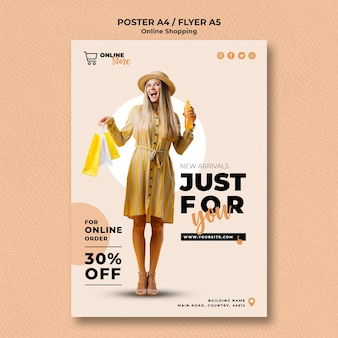Cartel para venta de moda en línea
