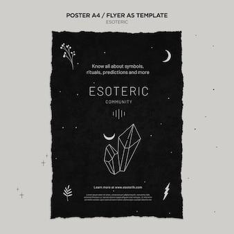 Cartel vertical de artesanía esotérica.