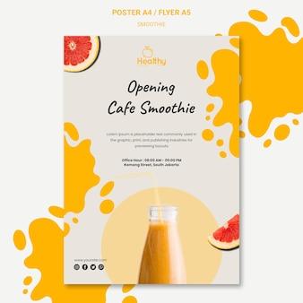 Cartel vertical para batidos de frutas saludables.