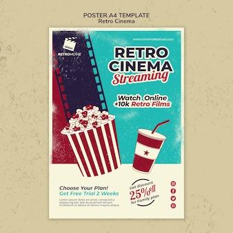 Cartel vertical para cine retro.