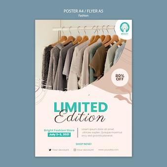 Cartel vertical para colección de moda.