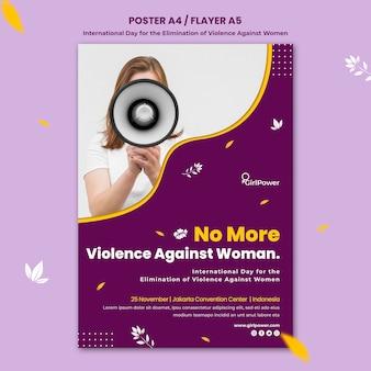 Cartel vertical para la eliminación de la violencia contra la mujer