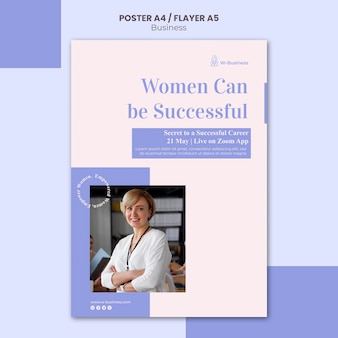 Cartel vertical para mujeres empresarias.