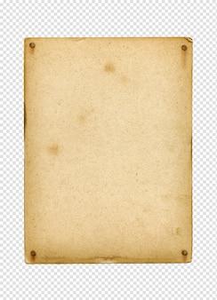 Cartel vintage en blanco clavado