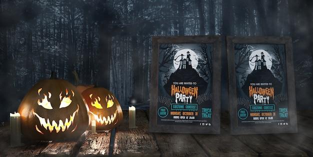 Carteles de cine para la celebración de halloween