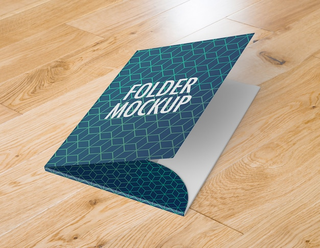 Cartella business a4 mockup