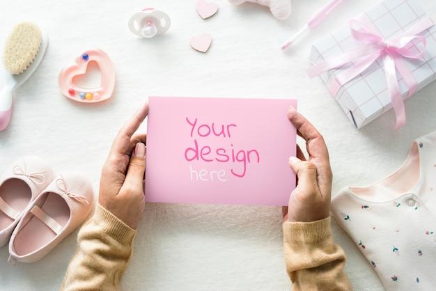 Cartolina d'auguri della neonata