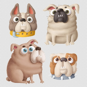 Cartoon honden clipart
