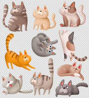 Cartoon katten
