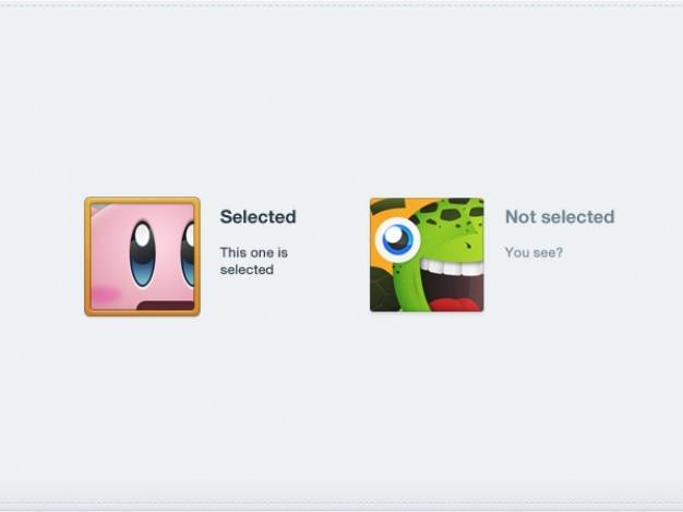 Cartoon pictogram voor select menu