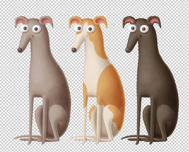 Cartoon whippets clipart