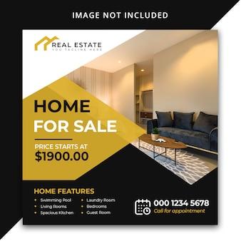 Casa in vendita modello di post social media