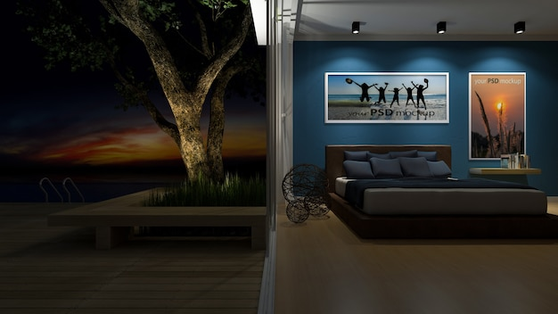 Casa junto al mar 3d