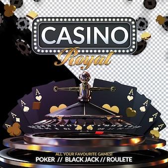 Casino royal 3d render compositie