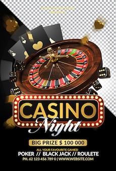 Casino royal night event 3d render compositie