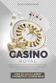 Casino royal night event composición de renderizado 3d