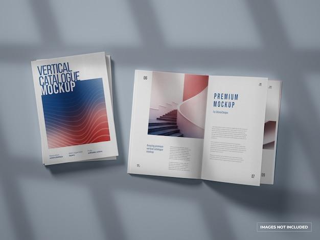 Catálogo vertical y maqueta de revista