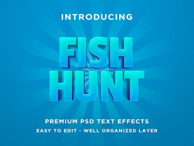 Caza de peces - efecto de texto en 3d