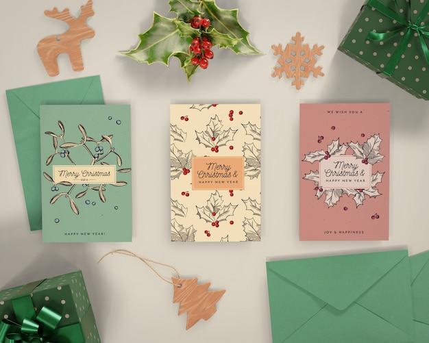 Celebración navideña con tarjeta