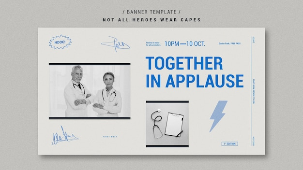 Celebrando el diseño de banner de médicos