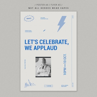 Celebrando el diseño del cartel de médicos