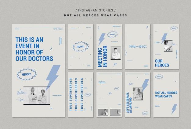 Celebrando historias de instagram de doctores