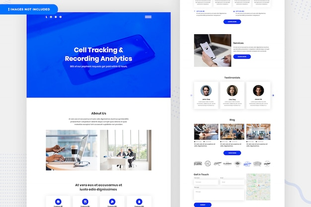 Cell tracking & recording analytics website-pagina