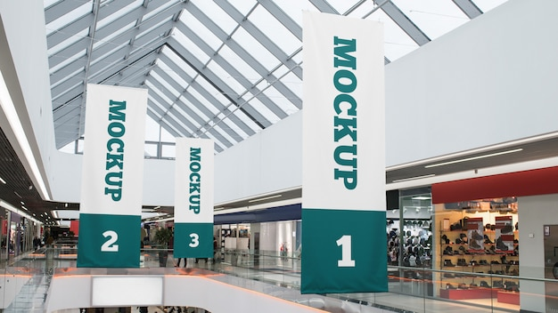 Centro commerciale banner mockup